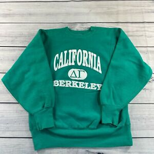 Vintage Champion Pullover Sweatshirt Mens Large Green Reverse Weave Berkeley USA