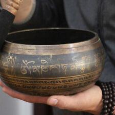 Best Buddhism Tibetan Copper Chakra Mecitation Singing Bowl Wood Hand Hammer