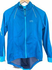 Gore Bike Wear Windstopper Soft Shell Jacket Teal/blue Women's Size L Cycling