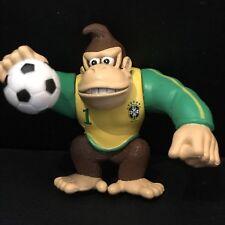 Nintendo Donkey Kong Action Figure Brazil Football Shirt World Cup Moving Arms