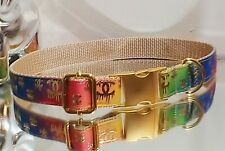 Private listing Luvmybags Gold Metal Buckle DOG COLLAR 17-20 in. Ret.$74🌈 🐕