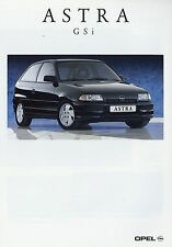 Prospekt 1992 Opel Astra GSi Autoprospekt 8 92 Auto Pkw brochure Europa Deutsch