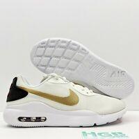 Nike Air Max Oketo Women's Running Training Sport Gym White Gold Red AQ2231-105