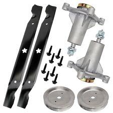 2 Spindle Assembly Pulley Blade Ayp for Husqvarna Craftsman 285585 187292 192870