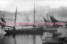 YO 451 - Lowestoft Fishing Boat At Scarborough, Yorkshire c1910 - 6x4 Photo