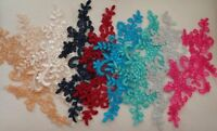 Dress sewing floral lace applique embroidered tulle lace motif Various colours