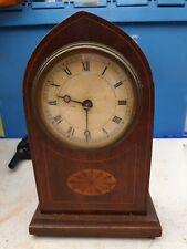 Antique Wooden Mantle Clock Vintage