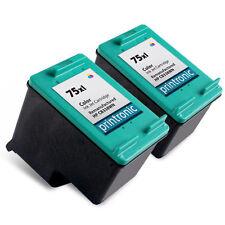 2 Pack HP 75XL Ink Cartridge - Deskjet D4260 D4263 D4268 D4280 D4360 D4363