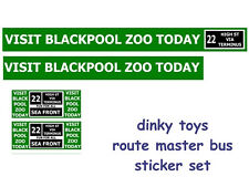 DINKY TOYS ROUTEMASTER BUS STICKER SET BLACKPOOL