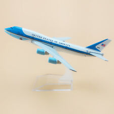 NEW 16cm American Air Force One Airlines Boeing 747 B747 Airplane Model Plane