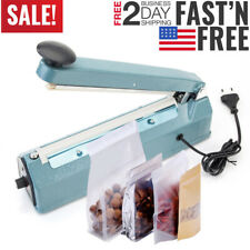 Impulse Heat Poly Bag Sealer Plastic Closer Machine Teflon Sealing 30cm Wrap