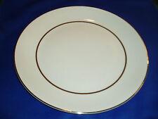 "Salem International Ironstone England White ""Silver Elegance"" Dinner Plate"