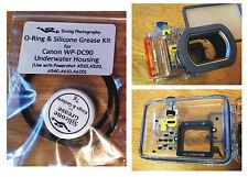 O-RING & SILICONE GRASSO KIT PER CANON wp-dc90 Immersione Subacquea Case Custodia