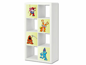 Kleine Monster Möbelsticker / Aufkleber für EXPEDIT / KALLAX von IKEA - ER16