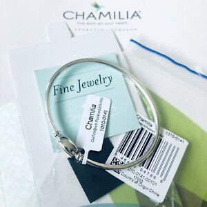 Genuine CHAMILIA Oval Touch Charm Bracelet Bangle ~ MEDIUM 18cm ~ 1010-0141