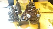 Franklin Mint  Pewter Figurines  by Peter Jackson Set OF