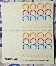 Decal TAMEO KITS 1/43 GOOD YEAR EAGLE BBS OZ ENKEI SPEEDLINE CARTOGRAF