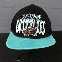 VTG🌴🏀New Era 9Fifty NBA Vancouver Grizzlies SnapBack Cap Hat Black🌴Free Ship