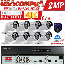 HIKVISION 8 CH SECURITY SYSTEM 8 CAMERA KIT BULLET /FULL 1080P/H264+/2TB HDD