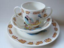 WALT DISNEY ~ Mickey & Minnie Mouse ~ Goebel Coffee Cup Tea Mug, Bowl & Saucer