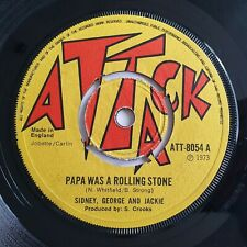 Sidney, George And Jackie – Papa Was A Rolling Stone 7in