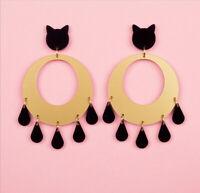 Fashion Women Acrylic Resin tassels Earrings Boho Dangle Drop Stud Earring