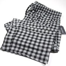NAUTICA Mens Lounge Pants Gingham Plaid Microfleece Gray & Black Size Medium