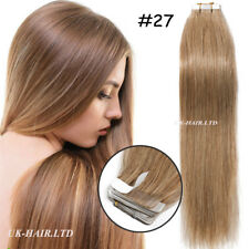 Tape IN Seamless Skin Weft Real Remy Human Hair Extensions Blonde Black US I507