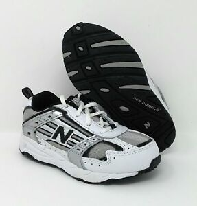 Little Boys New Balance Tie Sneakers White/Silver/Black  Size 8 M