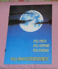 FULL MOON ENTERTAINMENT advertising brochure PUPPET MASTER II Dangerous Toys