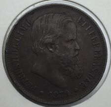 Brésil 40 reis Petrus 1879 bronze #1299