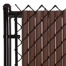 Chain Link Brown SoliTube™ Max-Privacy Slat For 6-ft Fence Bottom Lock
