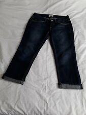 Womens Juniors So Jeans Size 7 Dark Wash Capri Crop Jeans
