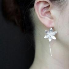 Fashion Silver Plated Long Drop Dangle Tassel Hook Earrings Ear Women Jewelry