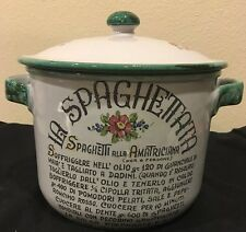 La Spaghettata Pot With Lid Hand Painted, Sigma Tastesetter, Made in Italy