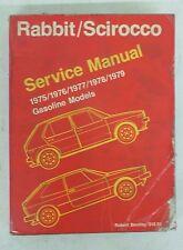 1975-1979 Volkswagen Rabbit/Scirocco Service Manual Gasoline Engines LOOK