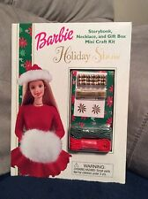Barbie Holiday Show Storybook, Necklace, & Gift Box Mini Craft Kit New