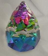 Rare Swarovski Crystal Cone Paperweight large Retired 1992 Vitrail Medium