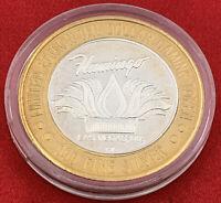 Casino Strike Flamingo Las Vegas $10 Token Silver 1994 20-2935AF