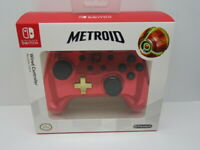 Nintendo Switch Red Chrome Metroid Wired Controller Special Limited Edition