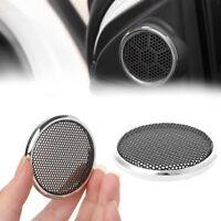 2 Pcs 50mm Mesh Speaker Steel Round Grill Protective Cover Decorative Circle