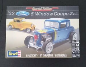 '32 Ford 5 Window Coupe 2 'n 1 Plastic Model Kit New
