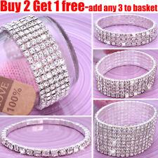 Full Crystal Rhinestone Bracelet Bangle Women Ladies Jewellery Wedding Party