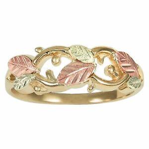 Fancy Leaves Black Hills Gold Ring