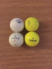 Vintage Golf Balls 3 And 4s Challenge Dunlop
