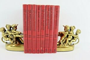 The Happy Hollisters Books by Jerry West Lot of 8 Hardback Red Cover 1960's