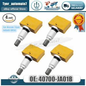 4x New OEM 40700-JA01B TIRE PRESSURE SENSOR TPMS For Nissan Titan Infiniti QX56