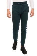 NEW BALANCE Sweat Trousers Size S Green Drawstring Waist Cuffed