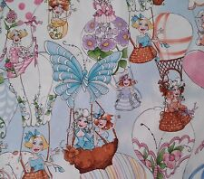 Up and Away BTY Loralie Harris Quilting Treasure Hot Air Balloon Women Blue