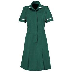Healthcare Womens Nurse Dress Nurses Uniform Vet Medical Dental Green 5XL UK32